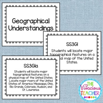 Common Core Georgia Performance Standards Posters Third Grade Social Studies