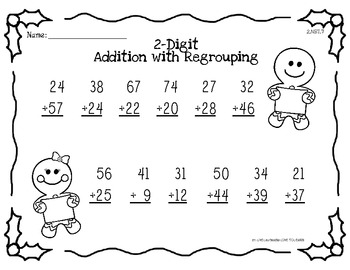 Common Core Ginger Addition with Regrouping 2.NBT.7
