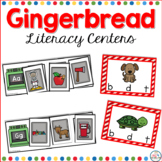 Gingerbread Man Literacy Centers for Kindergarten