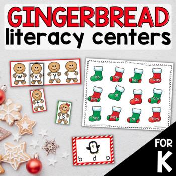 Gingerbread Man Literacy Centers for Kindergarten
