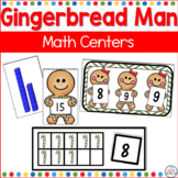 Gingerbread Man Math Centers for Kindergarten