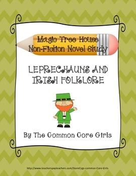 March: Magic Tree House Leprechauns and Irish Folklore~Novel Study