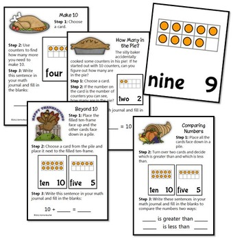 Common Core: Giving Thanks Number Sense Activities
