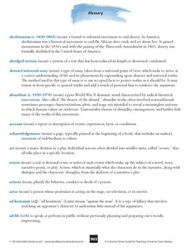 Common Core Glossary