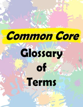 Common Core Glossary
