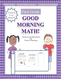 Math Morning Work First Grade Good Morning Math Common Core