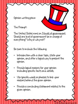 Common Core Government Writing Unit