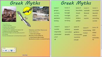 Grade 2- Domain 4-Greek Myths- Listening and Learning- Common Core