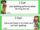 "Common Core Grade 2 ""I Can"" Statements and Checklists for Language"