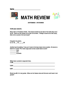 Common Core Grade 3 Math Review