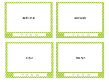 Common Core Grade 3 Tier 2 Vocabulary Task Cards - Differentiated - Study $ Game