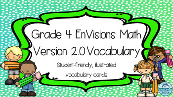 Grade 4 Envisions Math Version 2016 Inspired Vocabulary Wall Gray Background