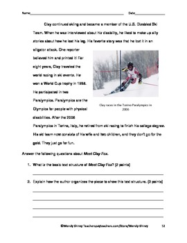 Common Core Grade 4 Reading Informational Guide RI.4.5 Text Structures