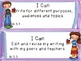 """Common Core Grade 5  """"I Can"""" Statements and Checklists for Writing"""