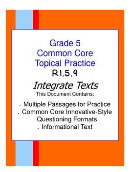 Common Core Grade 5:  Integrate Texts RI.5.9 Practice