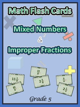 Common Core Grade 5 Math / Improper Fractions / Mixed Numbers / 5th Grade PSSA
