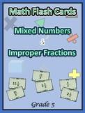 Common Core Grade 5 Math / Improper Fractions / Mixed Numb