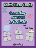 Common Core Grade 5 Math Flash Cards / Convert Decimals to