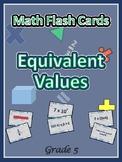 Common Core Grade 5 Math Matching / Flash Cards / 5th Grad