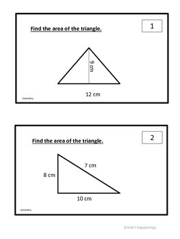 Common Core Grade 6 Geometry Task Cards