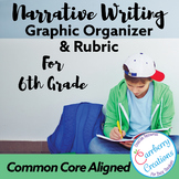 Common Core Grade 6 Narrative Writing Organizer & Rubric