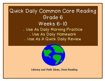 Common Core Grade 6 Starter Kit