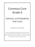 Common Core Grade 6 Statistics Task Cards