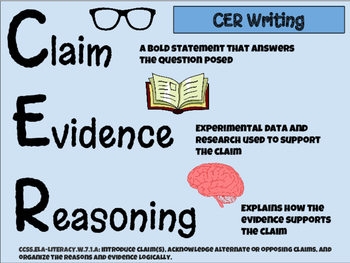 Writing Arguments Using Common Core Standards: CER