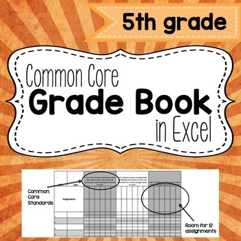 Common Core Grade Book {Fifth Grade}
