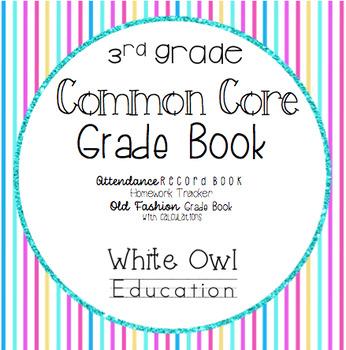 Common Core Grade Book and More 3rd Grade
