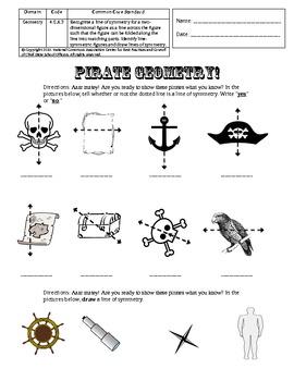 Common Core Grade Four: Pirate Geometry 4.G.A.3