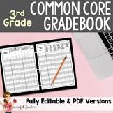 3rd Grade Common Core Gradebook for your Teacher Binder