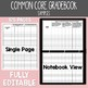 Common Core Gradebook 3rd Grade Teacher Binder