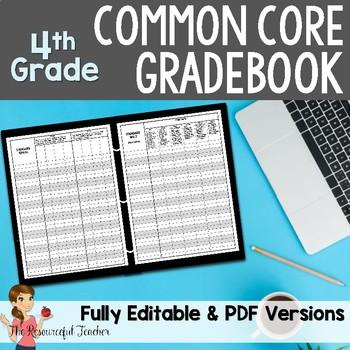 Common Core Gradebook 4th Grade Teacher Binder