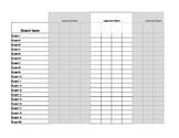 Common Core Gradebook Template for 2nd Grade