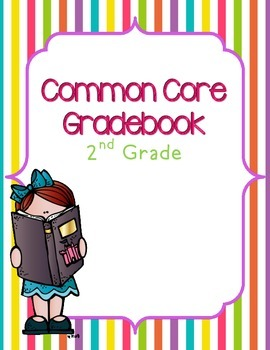 Common Core ELA & Math Gradebook {2nd Grade} for 25 students