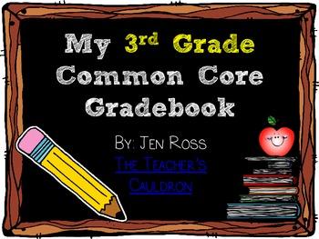 Common Core Gradebook for 3rd Grade