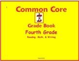 Common Core Gradebook for Fourth Grade