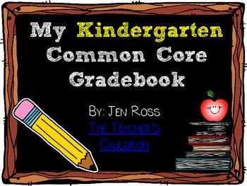 Common Core Gradebook for Kindergarten