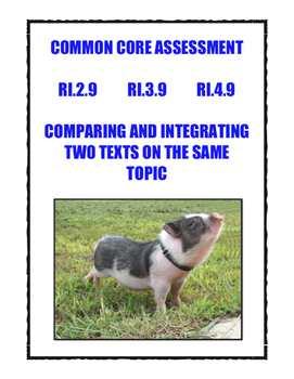 Common Core RI.2.9, 3.9, 4.9: Compare/Integrate Two Texts On The Same Topic