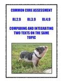 Common Core RI.2.9, 3.9, 4.9: Compare/Integrate Two Texts