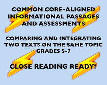 CC-Aligned Grades 5-7: Comparing and Integrating Texts On The Same Topic