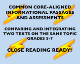 CC-Aligned Grades 5-7: Comparing and Integrating Texts On