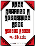 Common Core Grading and Reporting Form for 3rd Grade