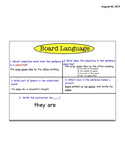 Common Core Grammar Board Language- L3.1