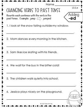 Grammar Practice 3rd Grade ~ Winter Grammar