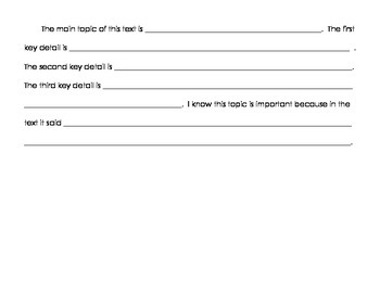 Common Core Graphic Organizers for Nonfiction (Informational Text)