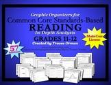 Common Core Reading Graphic Organizers Grades 11-12 Multi-