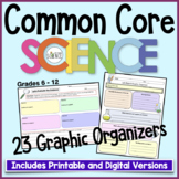 Common Core Science Graphic Organizers | Printable and Digital Distance Learning