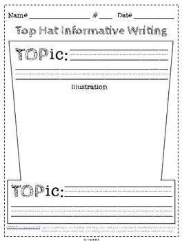 Expository Writing Common Core Graphic Organizers {Grades K-6} Top Hat